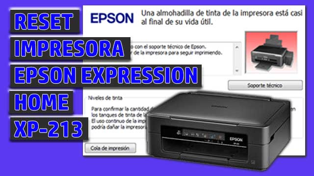 Reset impresora EPSON Expression Home XP-213