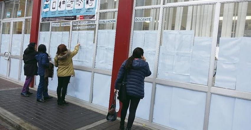 SUTEP Arequipa culpa al Gobierno de que maestros no cubran plazas para nombramiento