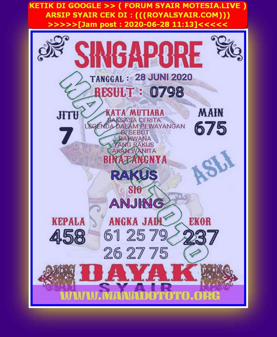 Kode syair Singapore Minggu 28 Juni 2020 33