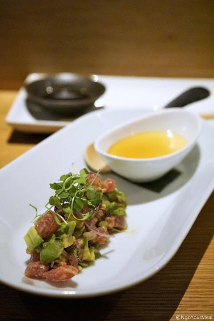 Tuna Sundae and Cold Tofu at DOMODOMO in New York City