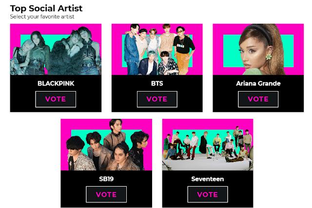 Vote for SB19 in the Billboard Music Awards