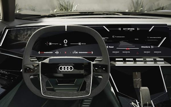 Audi Skyphere: conceito de distância entre eixos variável