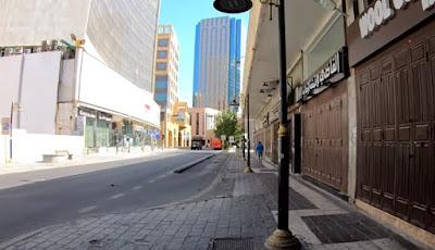 Salah satu sudut kota Mekah yang sepi