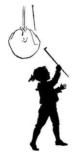 boy pinata silhouette image digital download