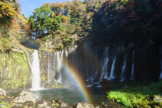滝壺の二重虹~白糸の滝(静岡)