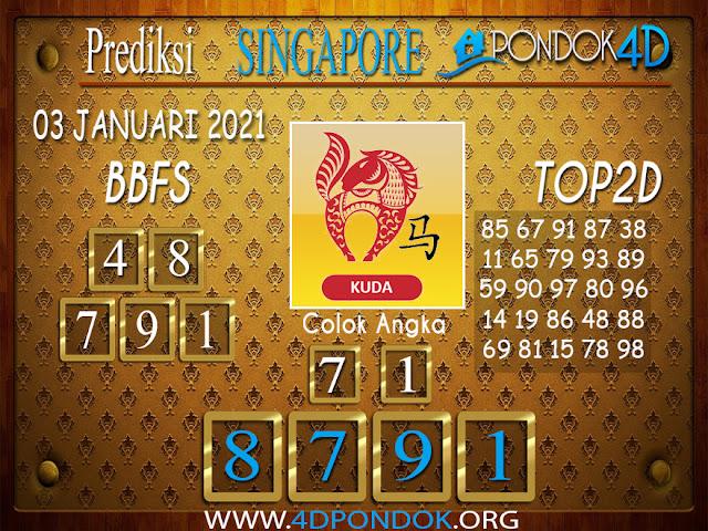 Prediksi Togel SINGAPORE PONDOK4D 03 JANUARI 2021