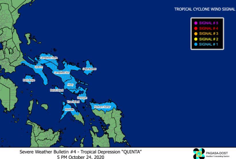'Bagyong Quinta' PAGASA weather update October 24, 2020