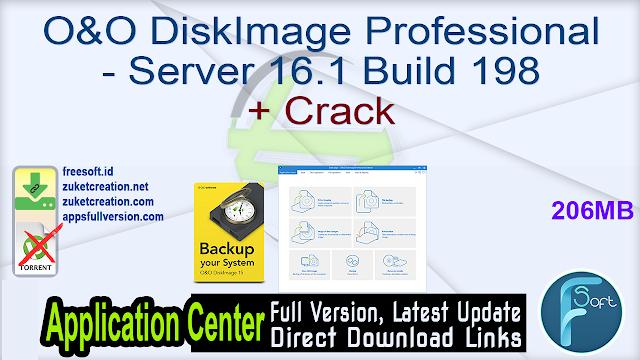 O&O DiskImage Professional – Server 16.1 Build 198 + Crack