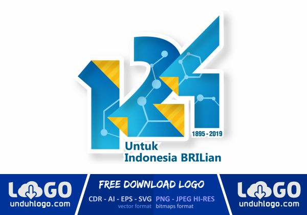 Logo HUT BRI 124 tahun 2019