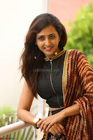 Lasya looks super cute in black choli Saree at Raja Meru Keka Press Meet ~  Exclusive 070.JPG