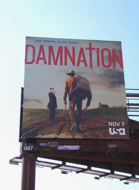 Damnation TV series billboard