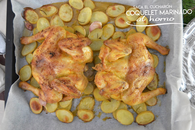 Coquelet marinado al horno - Saca el Cucharón