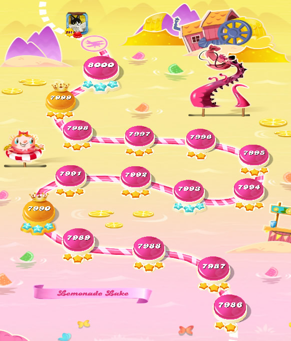 Candy Crush Saga level 7986-8000