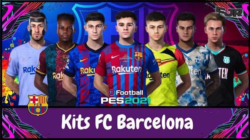 Kits FC Barcelona V2 Full Season 2021-22 (Sider & CPK Version) For eFootball PES 2021