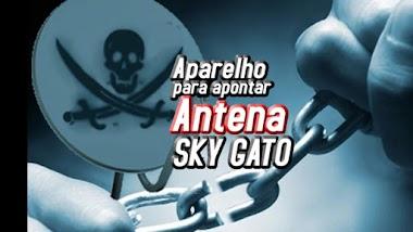 Aparelho para apontar antena sky gato