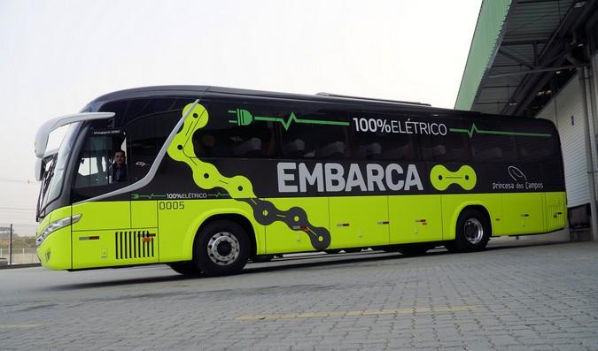 Princesa dos Campos e Embarca realizam primeira operação com ônibus elétrico em Curitiba