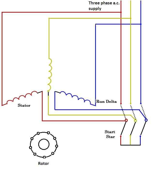 star delta Induction motor starter