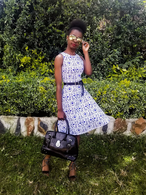 How I Styled My Porcelain Print Skater Dress