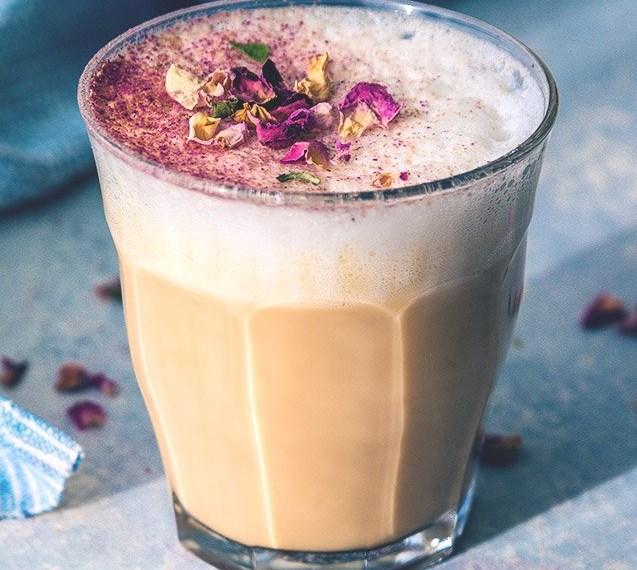 Rose & Earl Grey Tea Latte #drinks #coffee