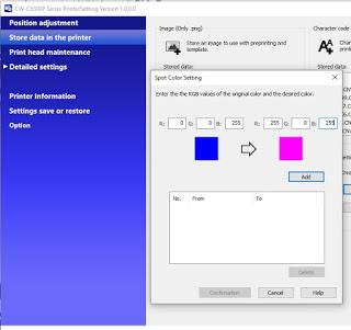 Configuración de color de tinta plana de la C6500