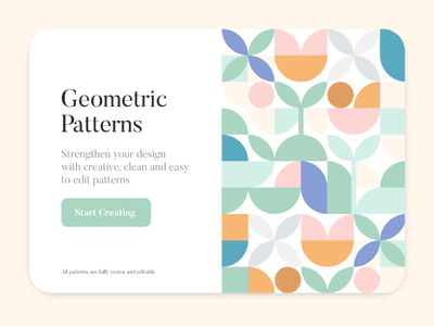 example of a simple geometric shape pattern used for web design