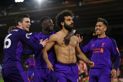Southampton 1-3 Liverpool Player Ratings: Check Out Salah's Rating As He Sets A New Premier League Record (Videos)