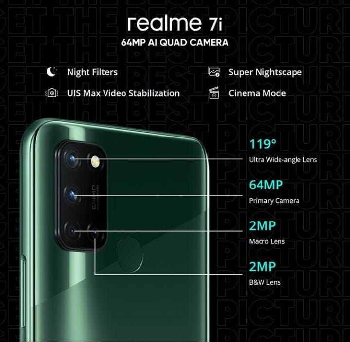 realme 7i with 64 MP quad camera