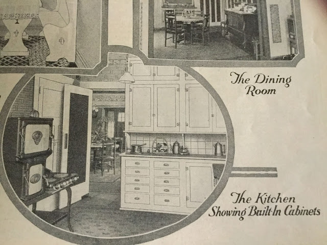 kitchen image shown in 1924 Sears catalog Sears Ashmore model in Cleveland Heights 3064 Corydon Rd James J Humpal testimonial