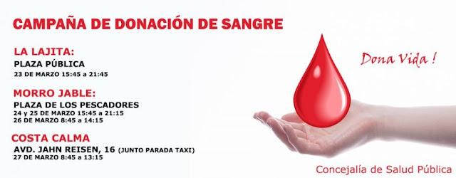 Cartel%2BDona%2BSangre.pajara%252Cfuerteventura - Fuerteventura.- Pájara anima a la ciudadanía a donar sangre en las unidades móviles que visitan el municipio