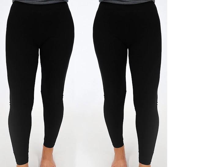 Women's Full Length Stretch Leggings 2-Pack