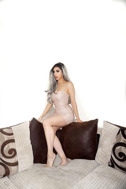 Femme Luxe pink Glitter Bodycon Mini Dress in model Macy