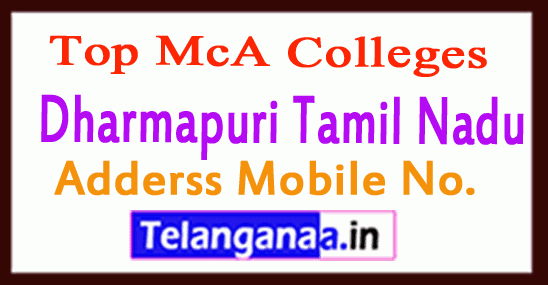 Top MCA Colleges in Dharmapuri Tamil Nadu