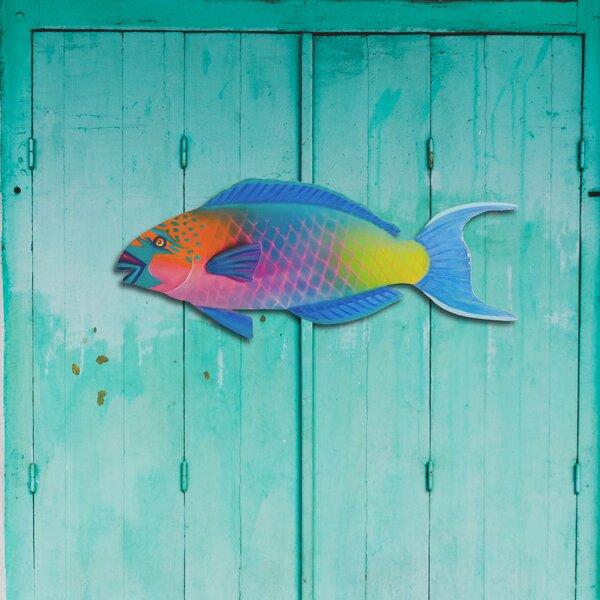 Parrot Fish Metal Beach Wall Decor