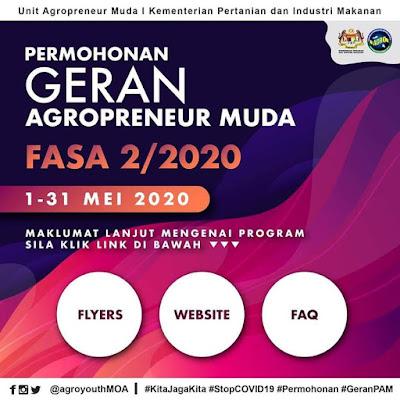 Permohonan Geran Agropreneur Muda 2020 Online (Semakan Status)