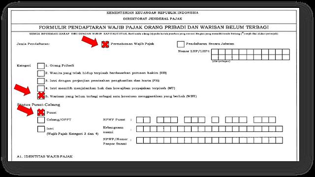 Pendaftaran NPWP Warisan Belum Terbagi