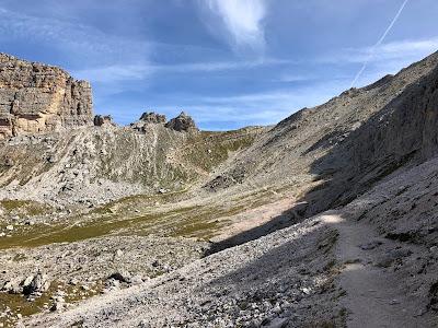 Hike 1 - Heading to Passo Crespeina (2531 m).
