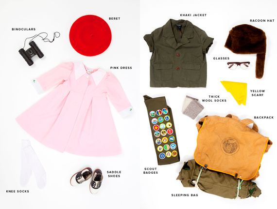 disfraces halloween: materiales moonrise kingdom