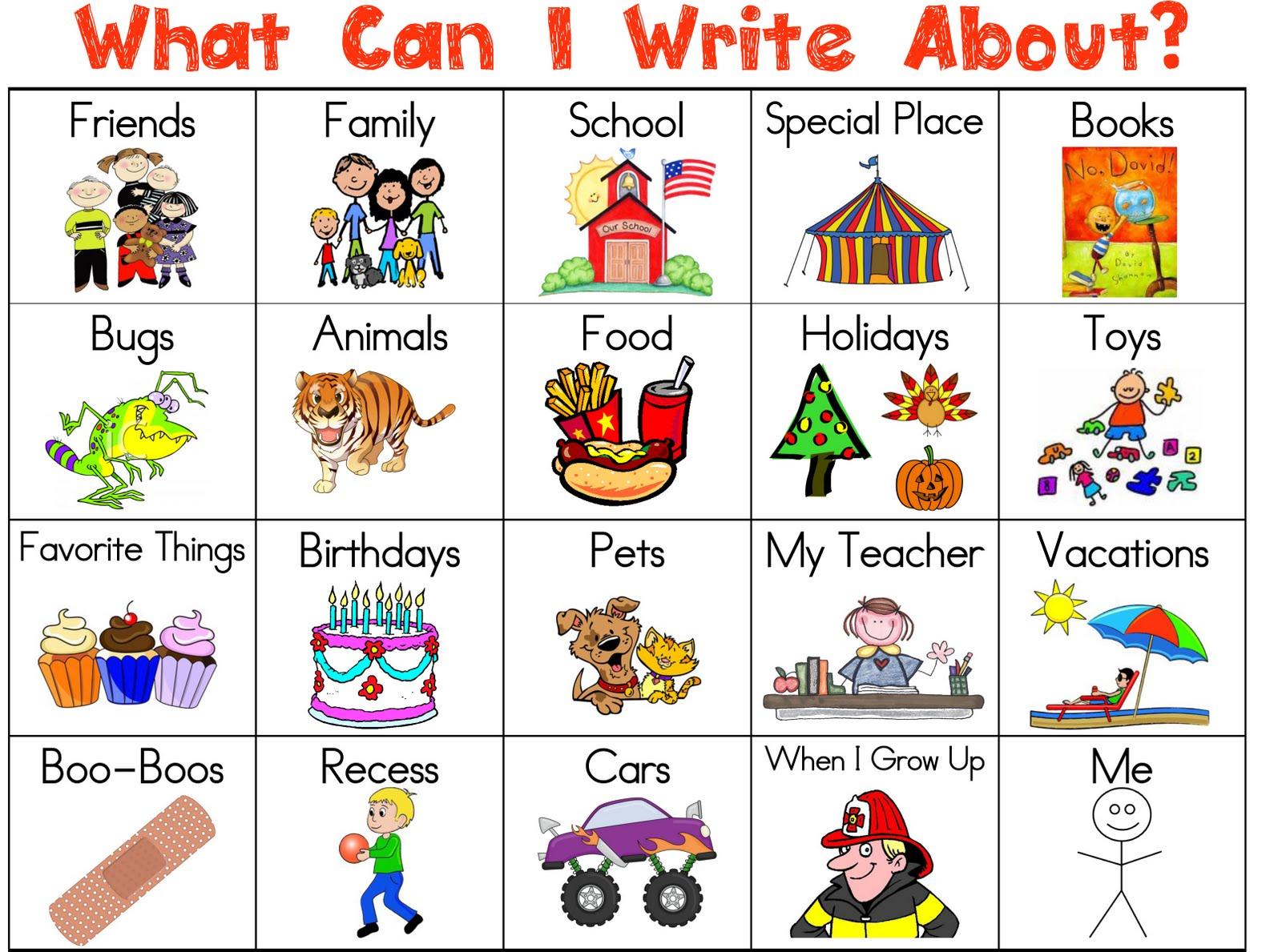 Writing Topics Kids