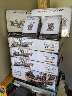 Brand new boxes amounting to a full Kharadron Army.