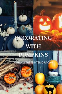 decorating with pumpkins pinnable image