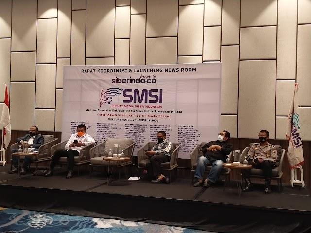 SMSI  Louncing Newsroom Siberindo, Rohidin Mersyah: Jangan Ciptakan Ruang Hoaks