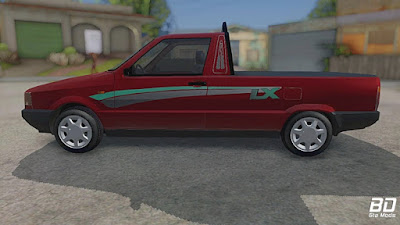 Fiat Fiorino LX para GTA San Andreas - Lateral