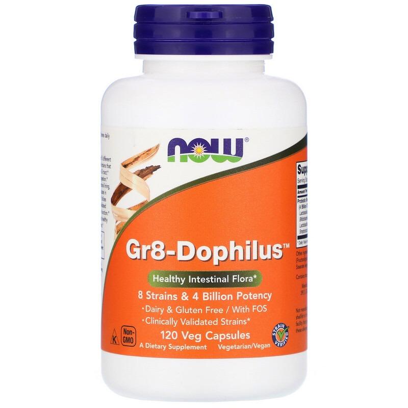 Now Foods, Gr8-Dophilus, 120 растительных капсул