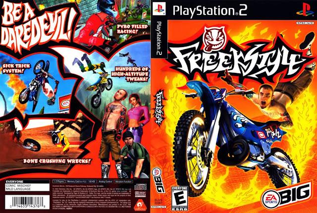 Descargar Freekstyle ps2 iso NTSC-PAL: Es un videojuego de carreras de motocross 2002 para la PlayStation 2, Game Boy Advance y Nintendo Gamecube. Hay cuatro niveles de juego, el circuito, una carrera rápida, estilo libre, y el funcionamiento libre.