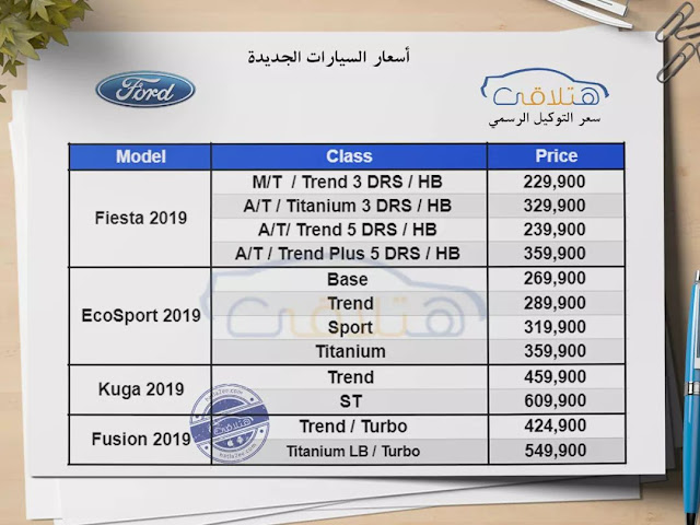 Ford Prices in Egypt