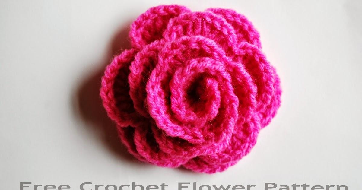Free Crochet Flower Pattern How To Crochet A Rose Free Crochet