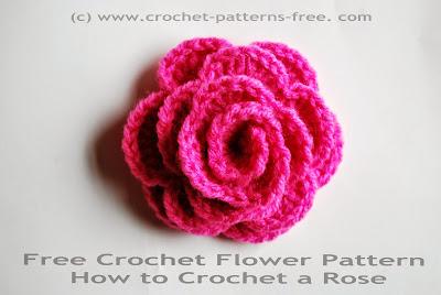 free crochet flower patters