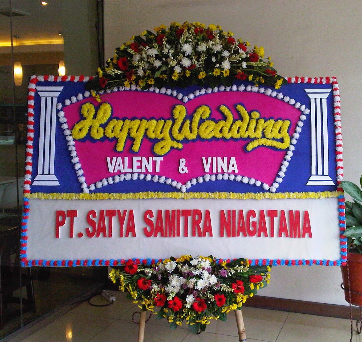Bunga Papan Happy Wedding (WS-098)