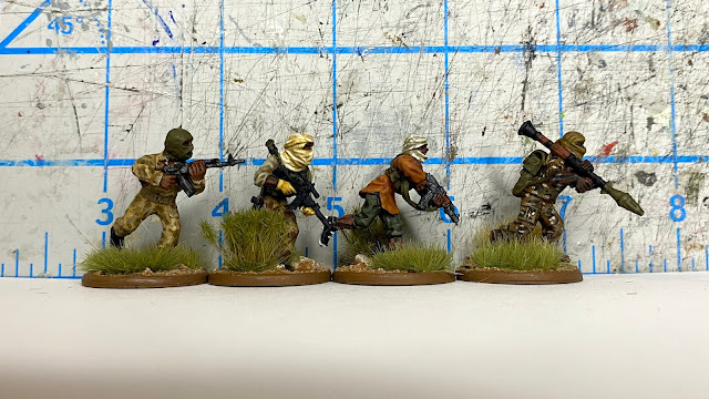 28mm Modern Miniature Size Comparison: The Assault Group (TAG), Footsore, Empress, Eureka