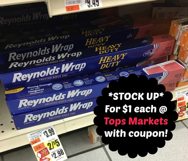 Tops: *STOCK UP* on Tin Foil for just $1 each!! Deals and To-Dos